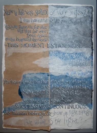 Light through by Liz Mathews (text by Virginia Woolf)