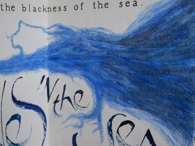 Thames to Dunkirk (page 12, detail) - artist's book by Liz Mathews, texts by Virginia Woolf and BG Bonalllack