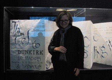 Liz Mathews with Thames to Dunkirk in the British Library's Writing Britain exhibition 2012