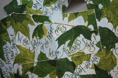 Handel's trees (detail), artist's book by Liz Mathews, text by Frances Bingham