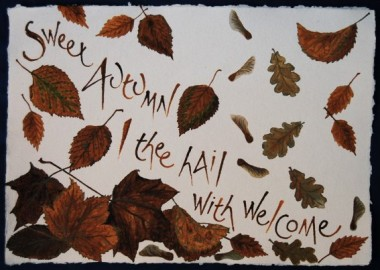 Autumn from All the year by Liz Mathews (text by John Clare)
