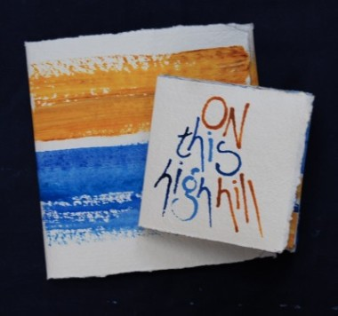 On this high hill (artist's book by Liz Mathews, text by Dylan Thomas), coverDSC_0005