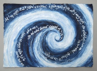 Spiral of light (text by Maureen Duffy) artist's book by Liz Mathews