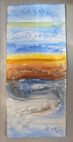 No end (text by Jeremy Hooker) artist's book by Liz Mathews