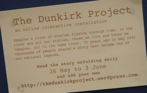 The Dunkirk Project invitation card