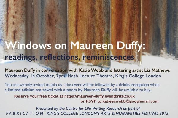 Maureen Duffy invitation