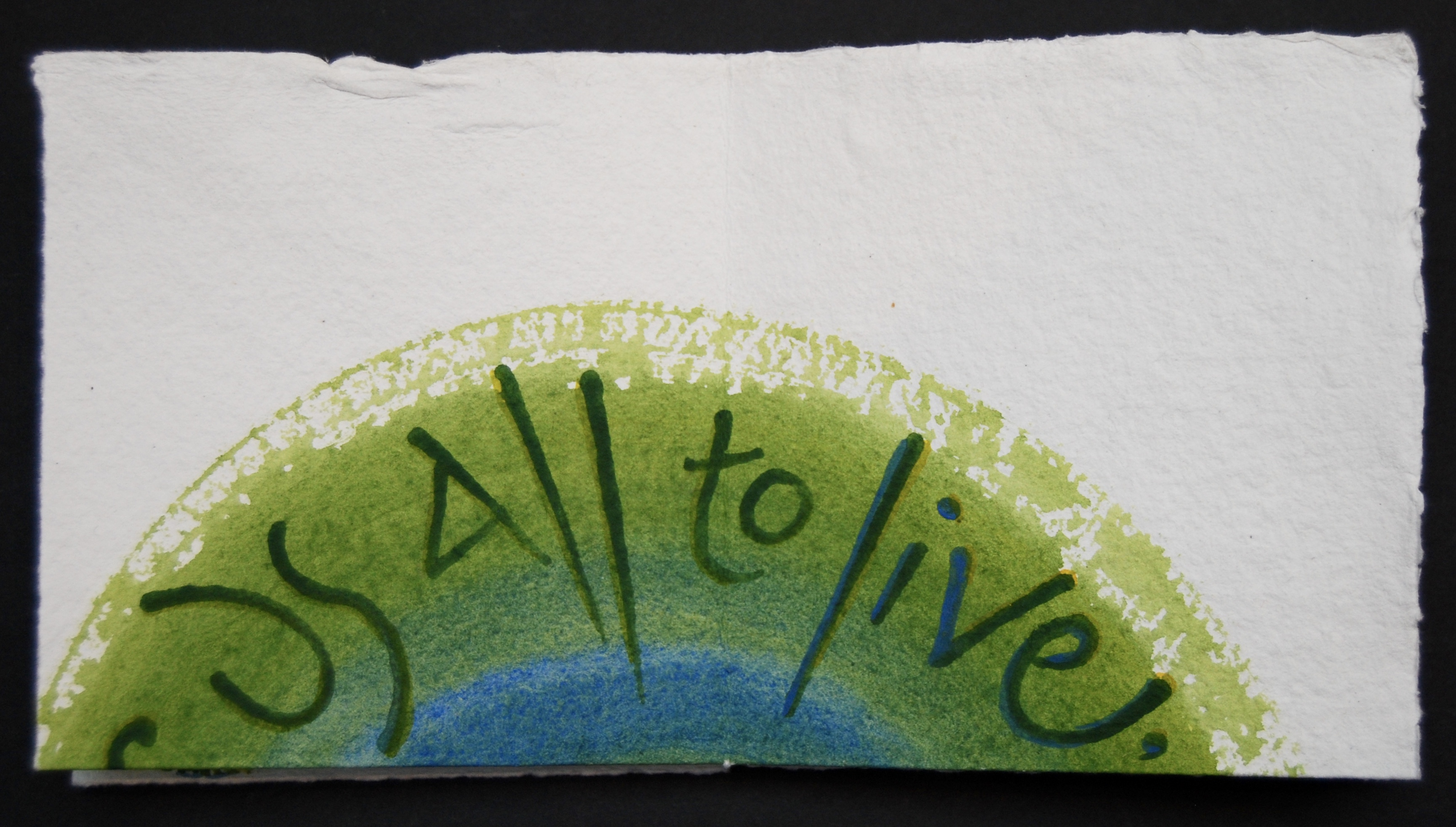 Page 2 of Proclaiming Spring, text by Maureen Duffy, artist's book by Liz Mathews