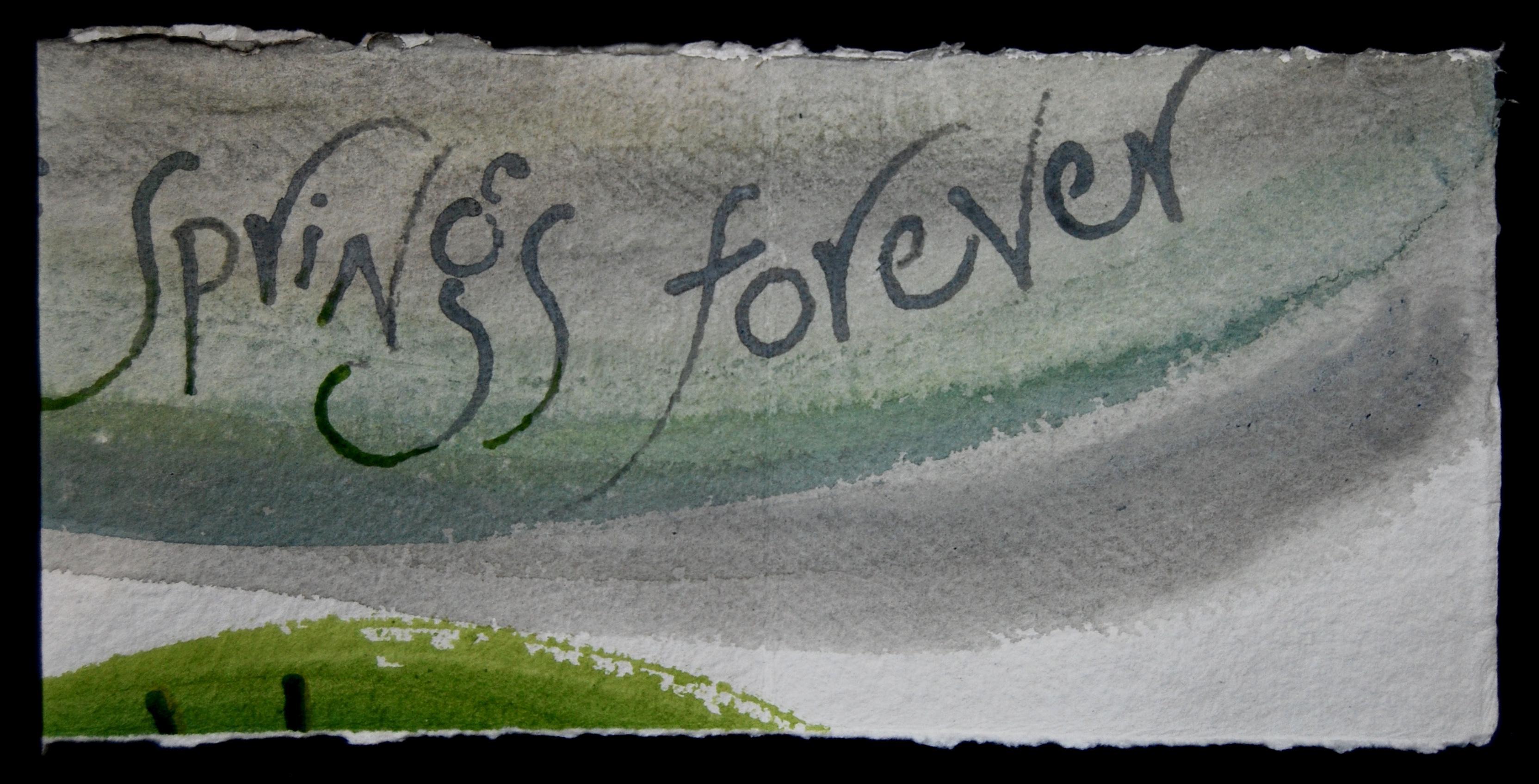 page 6 of Proclaiming Spring, words by Maureen Duffy, artist's book by Liz Mathews