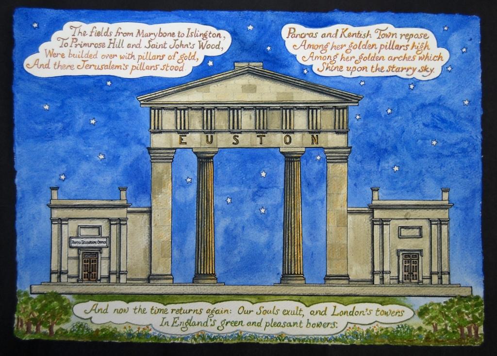 Blake's London  - text by William Blake from Jerusalem, paperwork by Liz Mathews