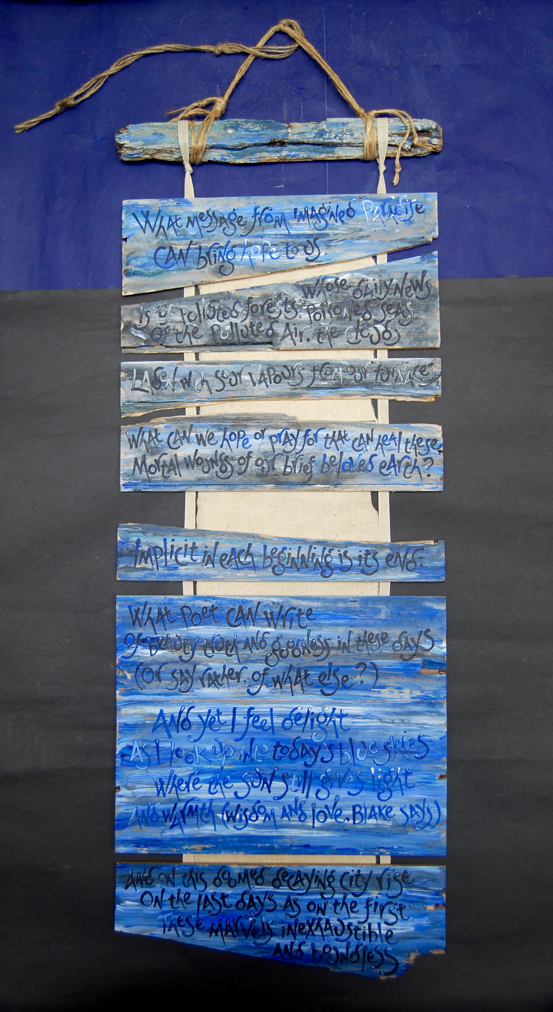 Blake's Graffiti by Liz Mathews (poem by Kathleen Raine)