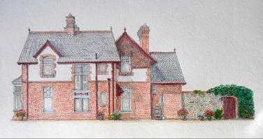 East Front drawing