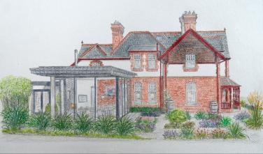 West Garden drawing