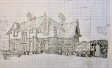 5. Working drawing North-east front