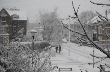 North London snow