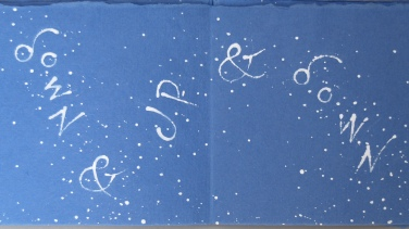page from Snow like thought, artist's book by Liz Mathews, setting a poem by Jeremy Hooker